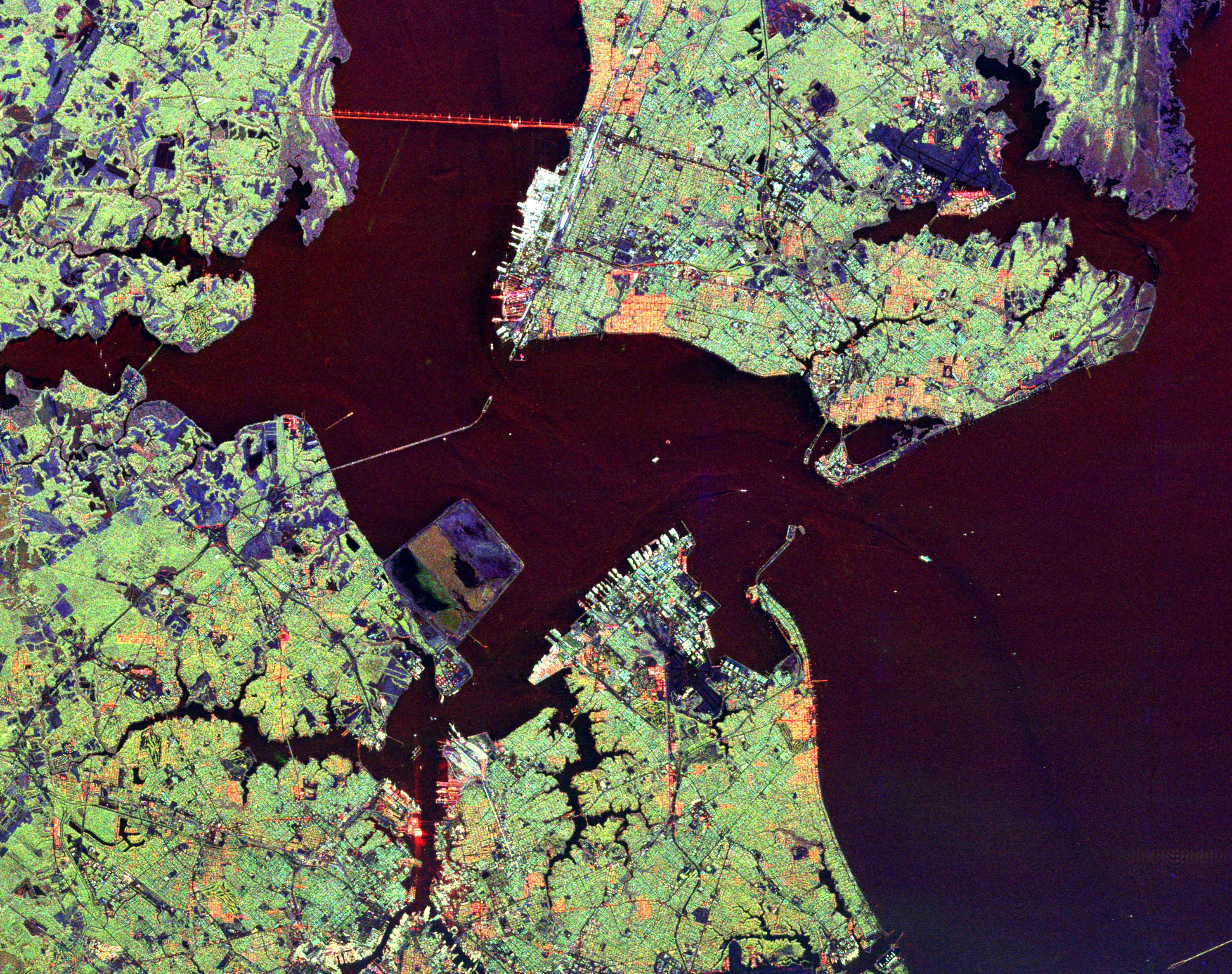Space_Radar_Image_of_Hampton_Roads_Virginia map