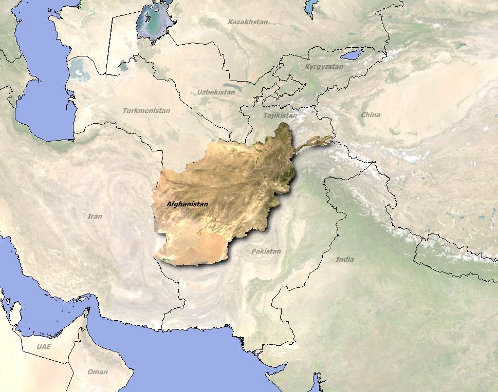 afghanistan_ortho map