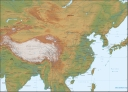 China landform map