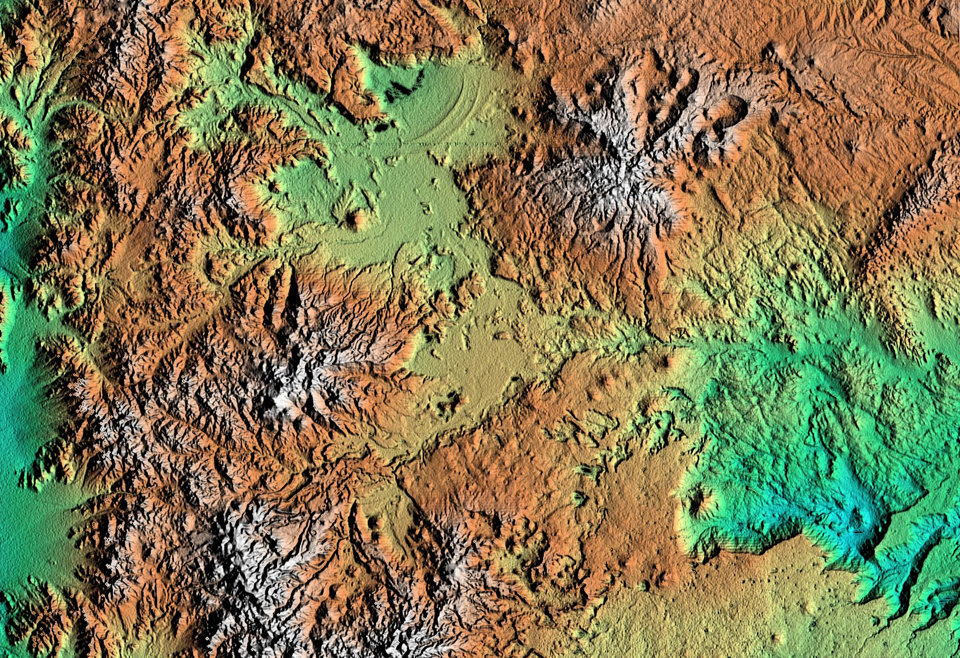 Color As Height Patagonia Argentina Mapworld Mapcap LampsLED - Argentina landforms map