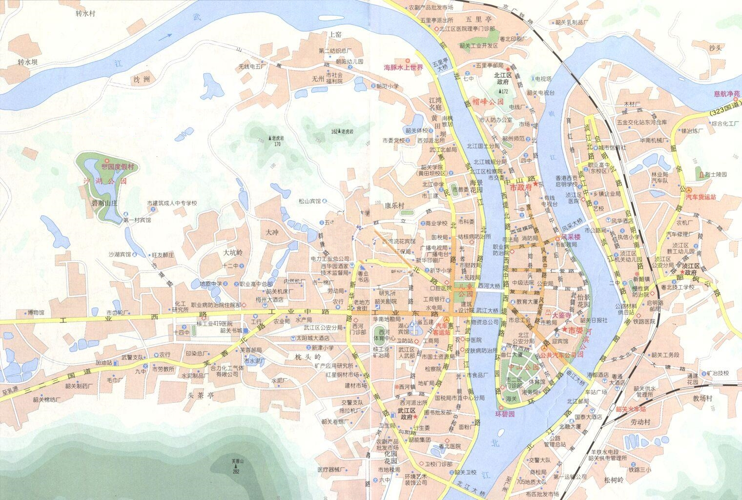 shaoguan city map