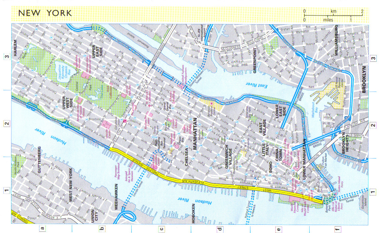 New york city map map